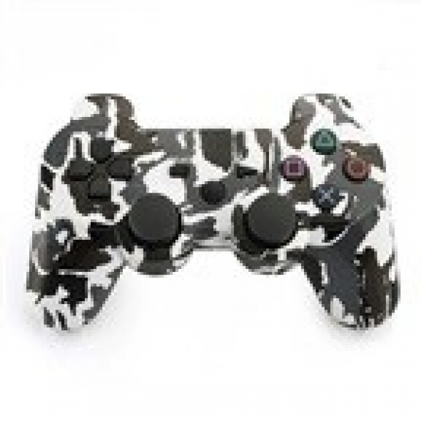 джойстик для Sony PLAYSTATION 3 (сони плейстейшн 3) DUALSHOCK 3 камуфляж White-Black-Grey