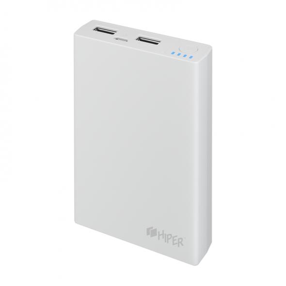зарядное устройство  Hiper RP7500 mAh  2.1 а + 1 а , белый , 2 USB