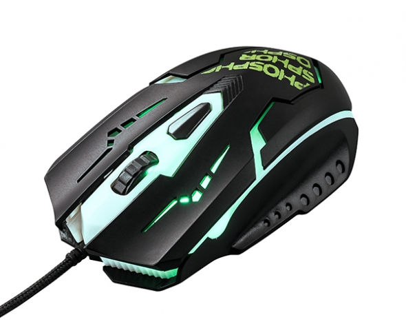 Мышь QUMO Phosphor M32, проводная, оптическая, игровая