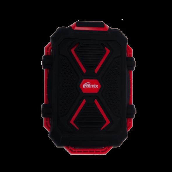 резервная батарея ЗУ Ritmix RPB-10407LST 10400 mAh  черный/красный