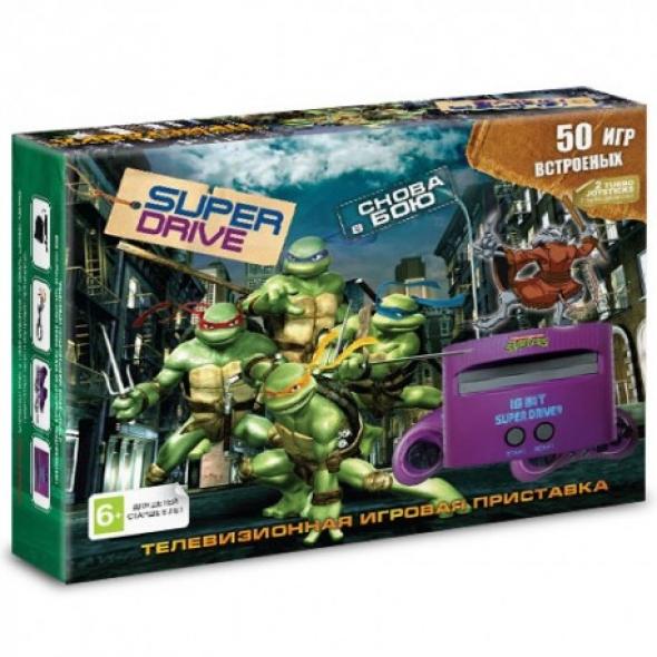 Игровая приставка sega super drive turtles 50 в 1