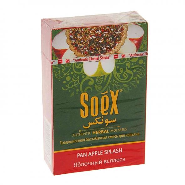 Безникотиновая смесь для кальяна Soex Яблочный всплеск 50гр (10шт в блк)