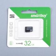 карта памяти micro SD  (микро) 32 Gb Smart buy