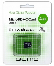 Карта памяти MicroSD  4GB  Qumo Class 4 без адаптера