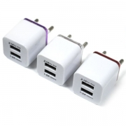 USB сетевой адаптер на 2 USB (со светящийся полосой)