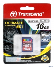 карта памяти  transcend sdhc 16gb class 10 ultimate