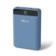 зарядное устройство ЗУ RITMIX RPB-10003L, голубой, 10000 мАч