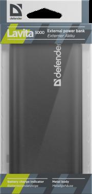 ЗУ DEFENDER Lavita 5000, 5000 mAh, 1 USB порт,5V/1A,