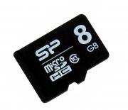 Micro sd карта 8 gb Sillicon class 10 без адаптера