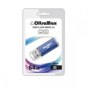 Флеш-накопитель USB  64GB  OltraMax   30  синий
