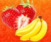 табак для кальяна Gixom ( гиксом )  Banana Strawberry  flavoured  (Банан с клубникой)  50 ГР.