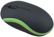 мышь Ritmix ROM-111 USB черно-зеленая