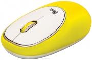 Мышь беспроводная RITMIX RMW-250 Antistress, жёлтая.