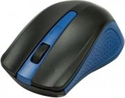 Мышь беспроводная RITMIX RMW-555, чёрный/голубой