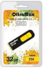 Флеш-накопитель USB  32GB  OltraMax  250  жёлтый