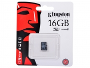 MicroSD 16GB Kingston  class 10  с адаптером