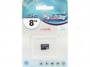 Micro sd карта 8 gb Smart Buy class 10 без адаптера