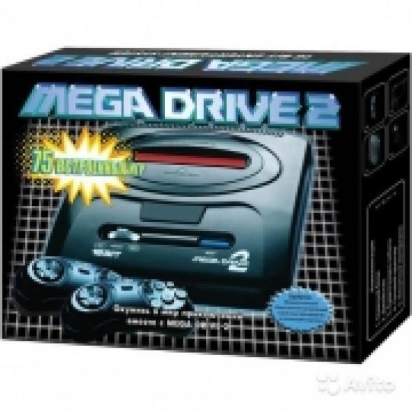 Игровая приставка  Sega MEGA DRIVE 2 ( сега мега драйв 2 ) + (132 а 1)