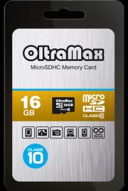 Карта памяти MicroSD  16GB  OltraMax Class 10 без адаптера