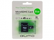 карта памяти  micro sd карта qumo 8gb