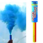 Дымовая шашка, факел дымовой с чекой,синий дым Р1751
