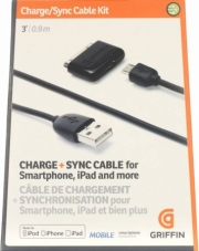 зарядка Griffin charge + sync cable