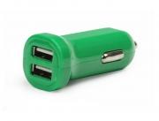 Автомобильное зарядное устройство  SMARTBUY CAR CRAFT, зеленое