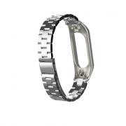 сменный браслет Xiaomi Mi Band 3 металлический ( серебро )