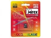 Micro sd карта 16 gb Mirex class 10 без адаптера