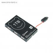 USB-хаб OXION черный, на 3 порта + кабель micro B, USB 2.0