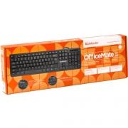 Клавиатура DEFENDER OfficeMate MM-820, USB, чёрная.