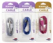 кабель микро USB(в оплетке, стекл. кор. ) Bordelon