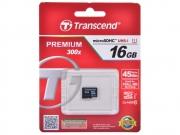MicroSD 16GB Transcend class 10 UHS-I 300X без адаптера
