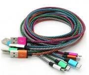 кабель iphone 5 (айфон 5) лапша наконечник хром