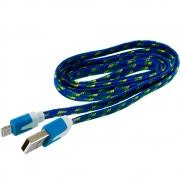 кабель на micro  (лапша в оплетке ) bordelon