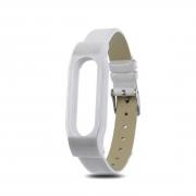 сменный браслет Xiaomi Mi Band 3 кожаный белый