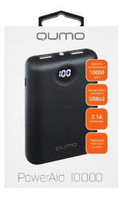 ЗУ Qumo PowerAid P10000, 10000 мА-ч 3A, под кевлар, 2 USB