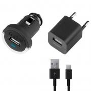 Набор АЗУ 2.1А+ кабель  Micro