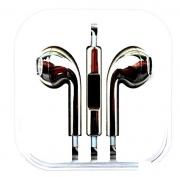 гарнитура для iPhone (айфон ) хром черный