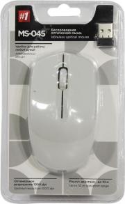 Мышь беспроводная  DEFENDER MS-045, серебро