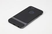 Чехол накладка силиконовая  iPhone 6 plus / 6 s plus жесткий матовый черный LM