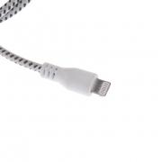 кабель iphone 5 лапша (наконечник хром)