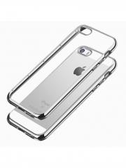чехол накладка cиликоновая iPhone SE / 5s / 5c / 5 прозрачная Пуск LM