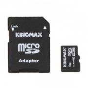 карта памяти microsd 4 gb kingmax class 10+sd адаптер