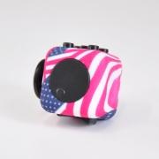 игрушка антистресс кубик-Fidget cube американский флаг