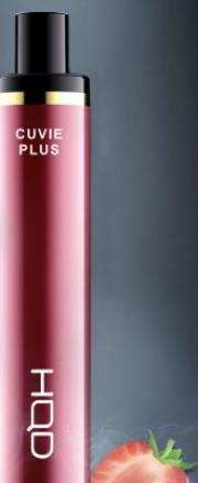 Одноразовая электронная сигарета HQD Cuvie plus Клубника