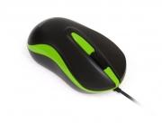 Мышь проводная Smart Buy 317, чёрная/зелёная, USB.