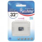 карта памяти microsd 4 gb Smart Buy class 10 без  адаптера