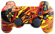 джойстик для Sony PLAYSTATION 3 (сони плейстейшн 3)  Dualshock 3 Граффити Пламя