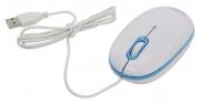 Мышь CBR CM-180, бело-голубая